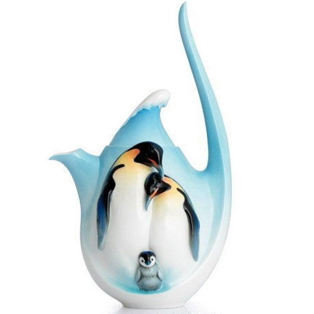 Playful Penguins Teapot | FZ02116 | Franz Porcelain Collection -2