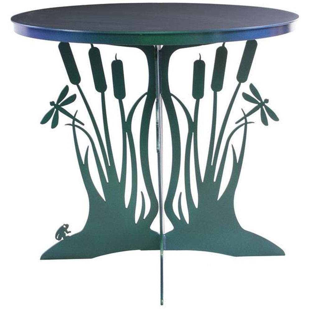 Cattail Dragonfly Patio Table | Cricket Forge | T023