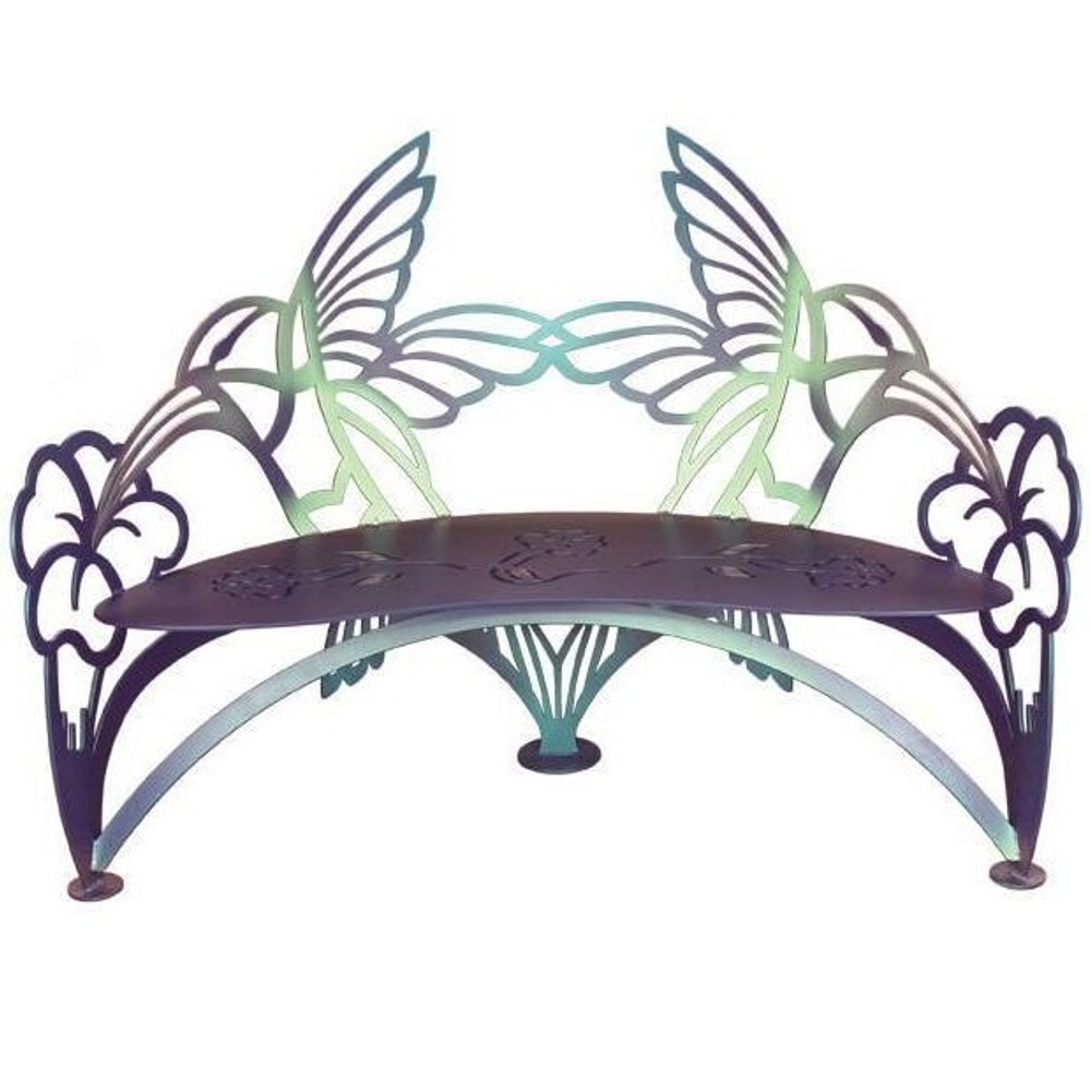Hummingbird Outdoor Bench | Cricket Forge | B017