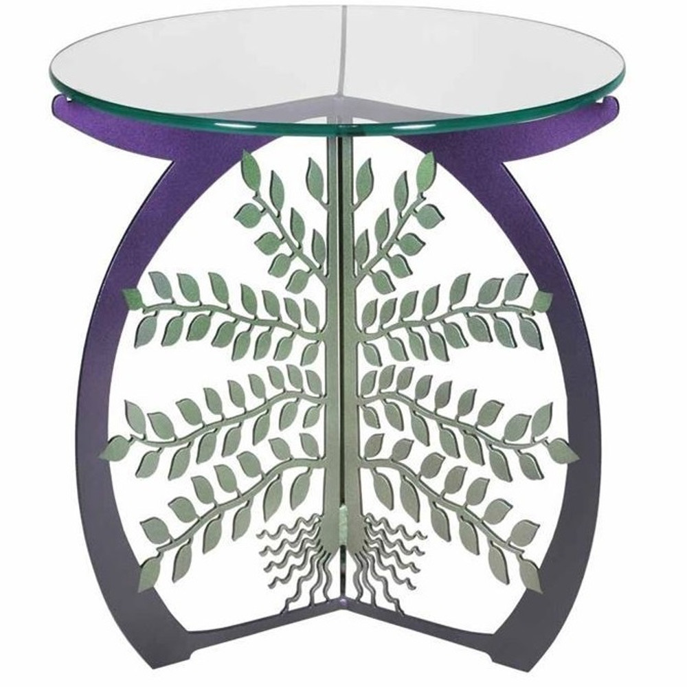 Tree of Life Glass Top Table   Cricket Forge   T028