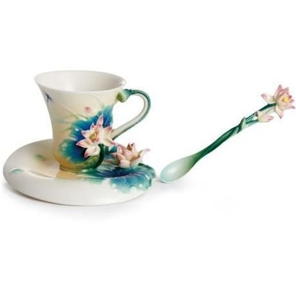 Lotus Harmony Cup Saucer Spoon | FZ02187 | Franz Porcelain Collection -3