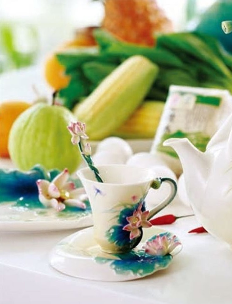 Lotus Harmony Cup Saucer Spoon | FZ02187 | Franz Porcelain Collection -2