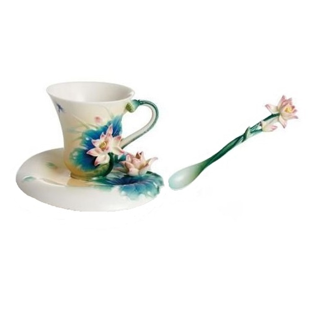 Lotus Harmony Cup Saucer Spoon | FZ02187 | Franz Porcelain Collection