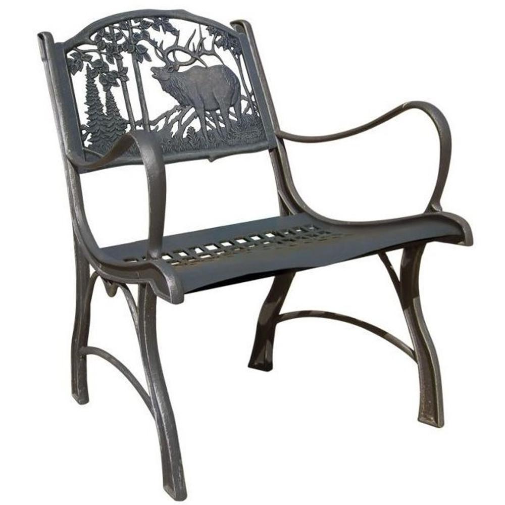 Elk Cast Iron Chair   Painted Sky   PSPC-IEK-200BR