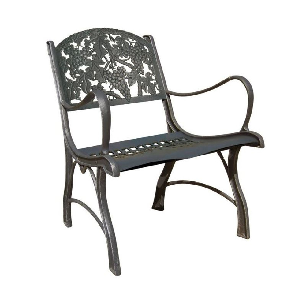 Grape Cluster Cast Iron Chair | Painted Sky | PSPC-IGP-200BR