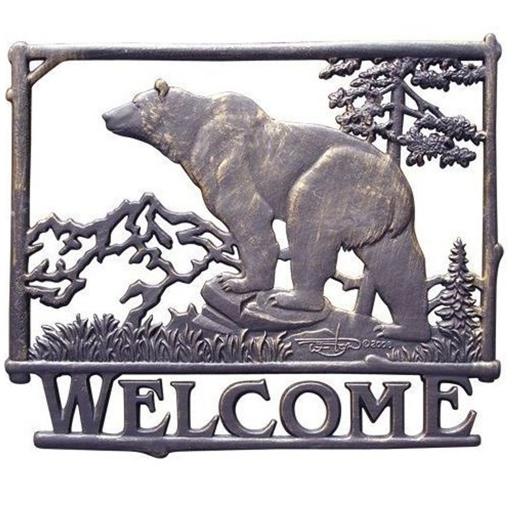 Bear Welcome Sign | Painted Sky | PSWS-BR