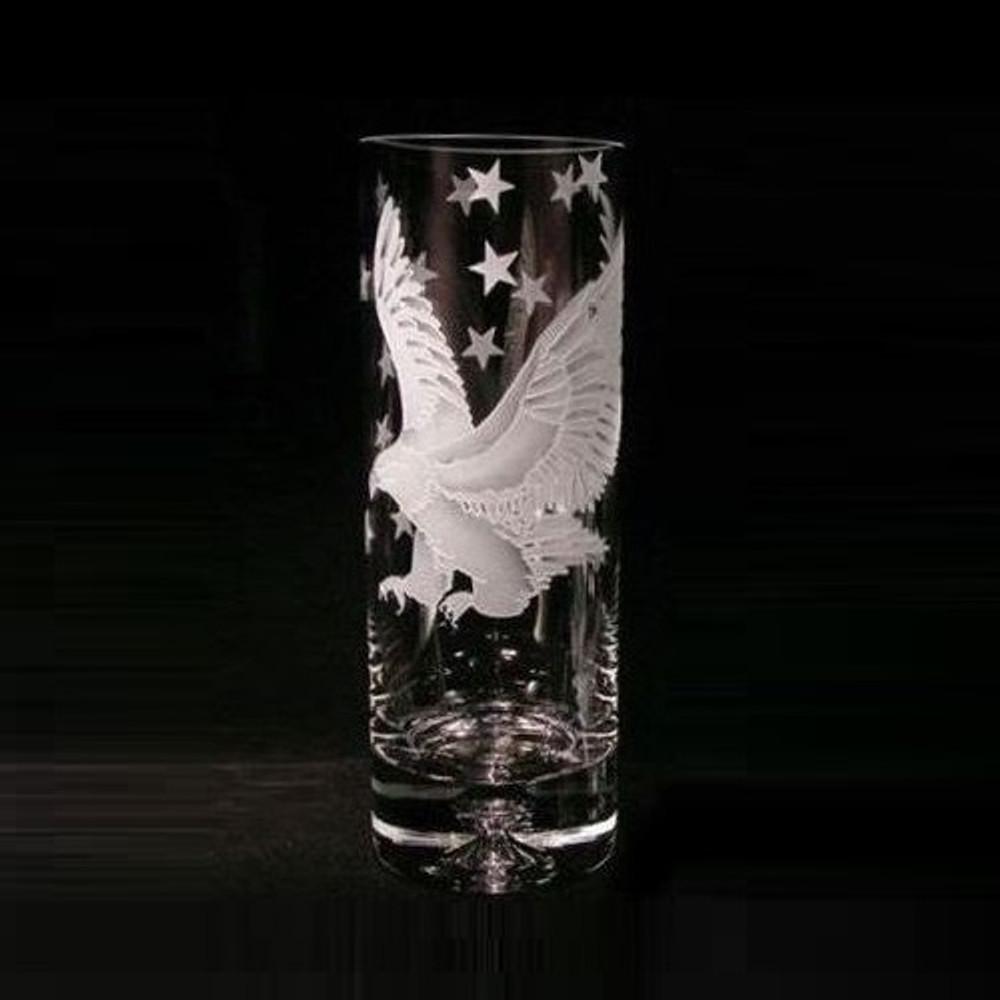 Eagle Crystal Vase   Evergreen Crystal   EC1318007