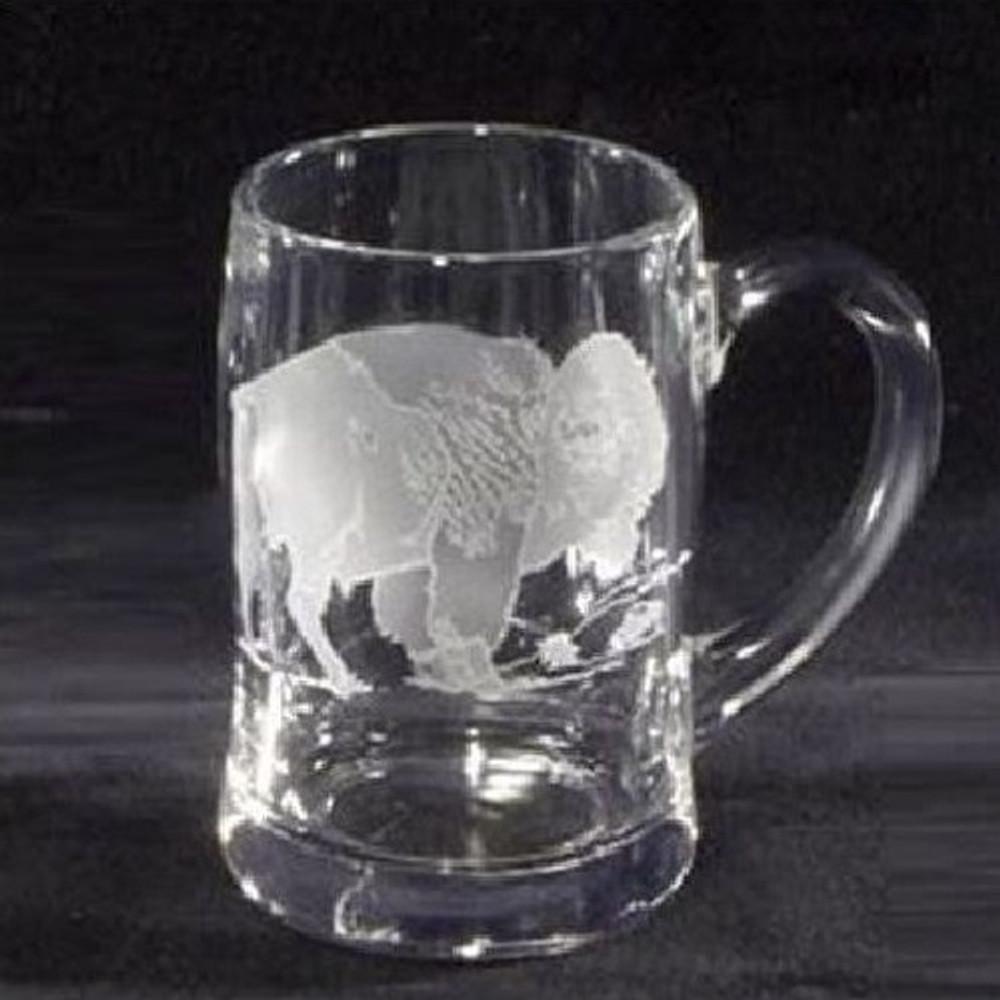 Buffalo Crystal Beer Mug Set of 2 | Evergreen Crystal | ECBBM