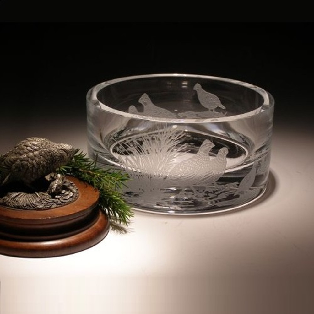 Bob White Crystal Bowl   Evergreen Crystal   ECBW106