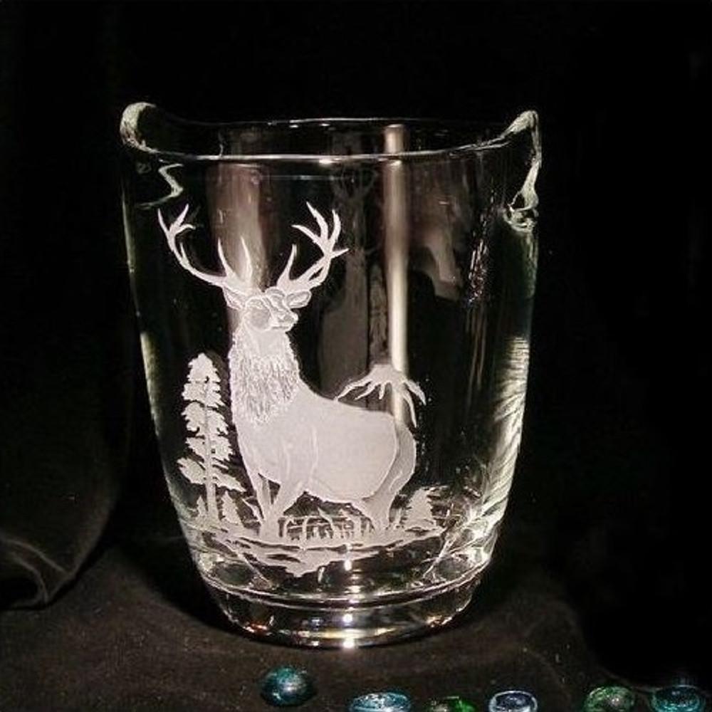 Elk Crystal Wine Cooler   Evergreen Crystal   ECIAFC60