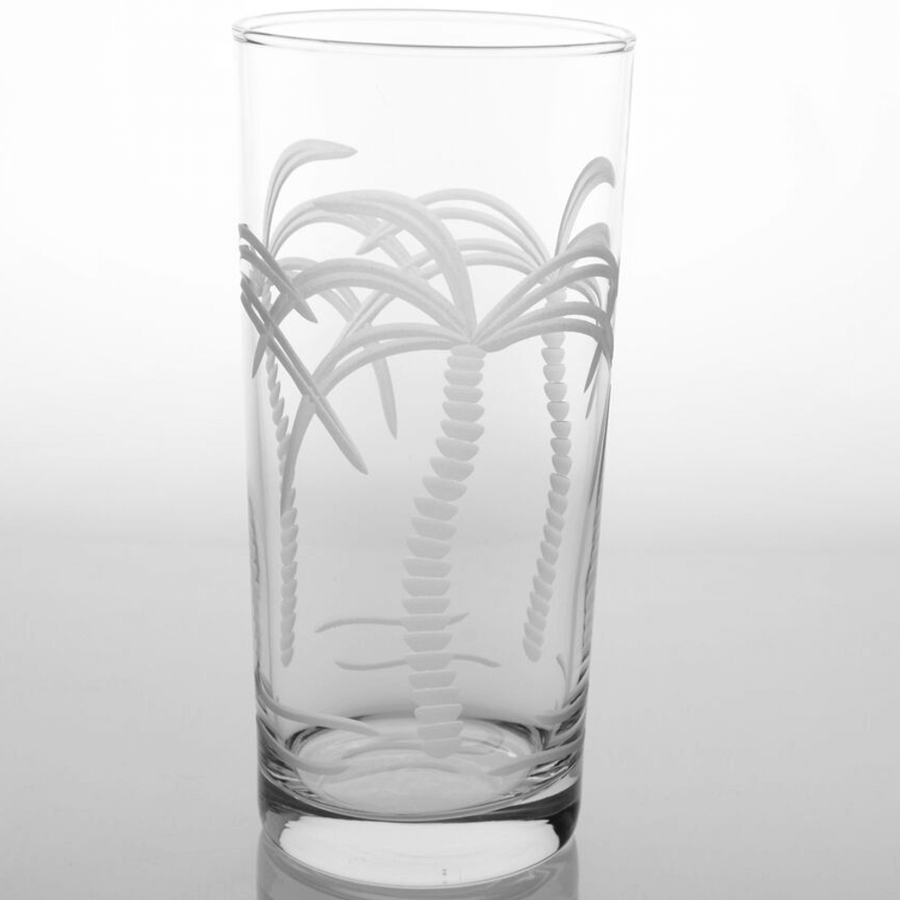 Palm Tree Cooler Glasses Set of 4 | Rolf Glass | 203010