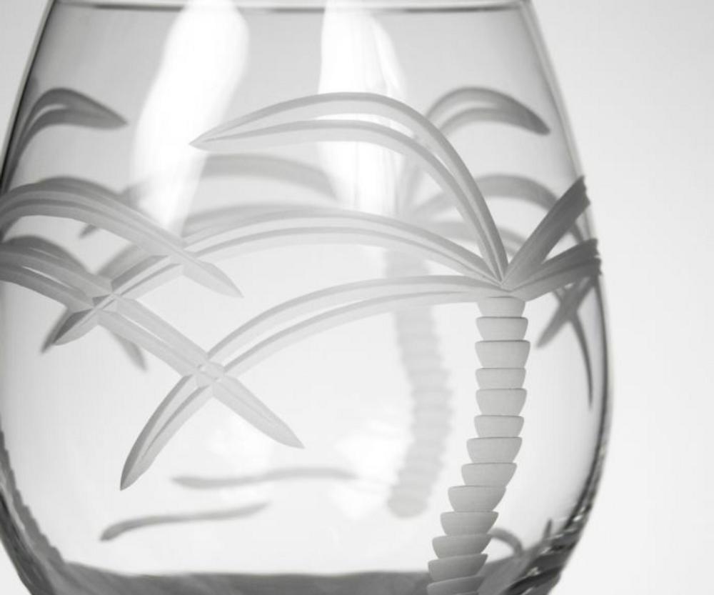 Palm Tree Balloon Wine Glass Set of 4 | Rolf Glass | 203171