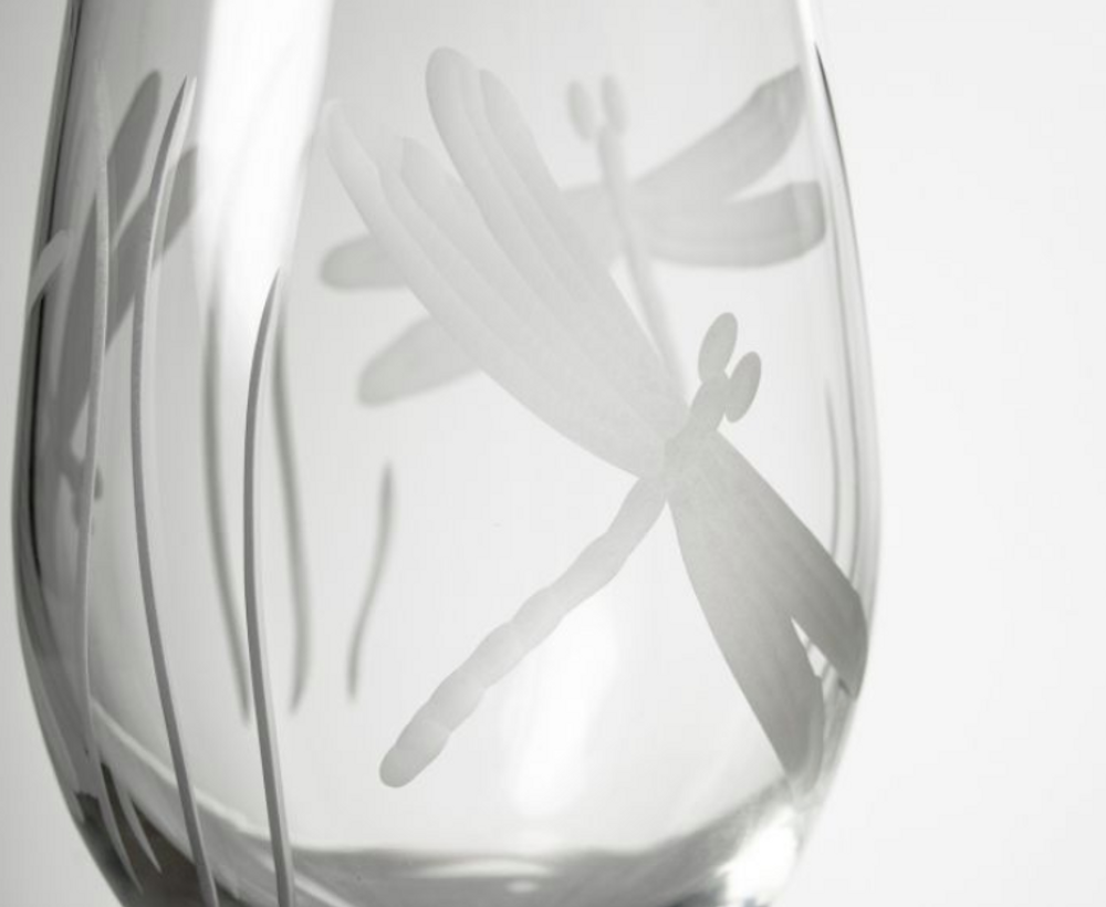 Dragonfly White Wine Glass Set of 4 | Rolf Glass | 206424