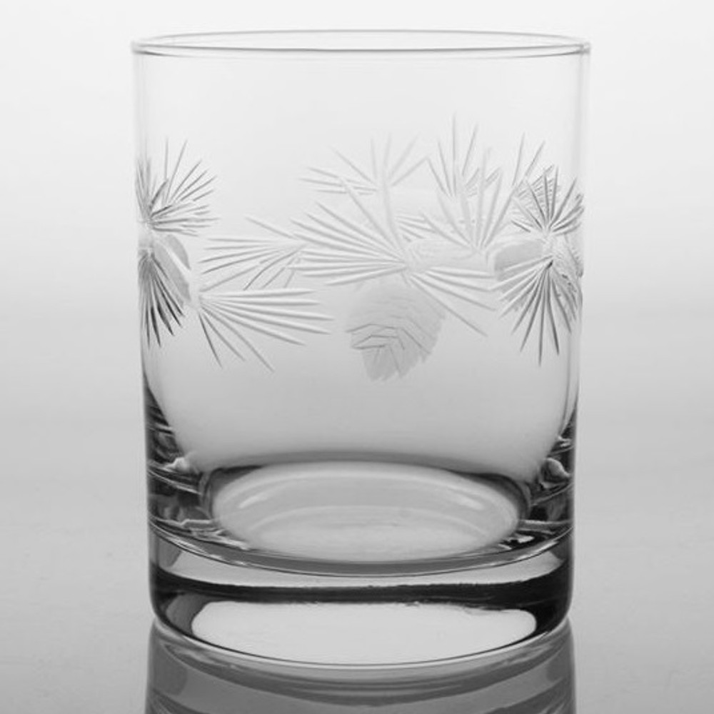Icy Pine Double Old Fashioned Glass Set of 4 | Rolf Glass | ROL207001