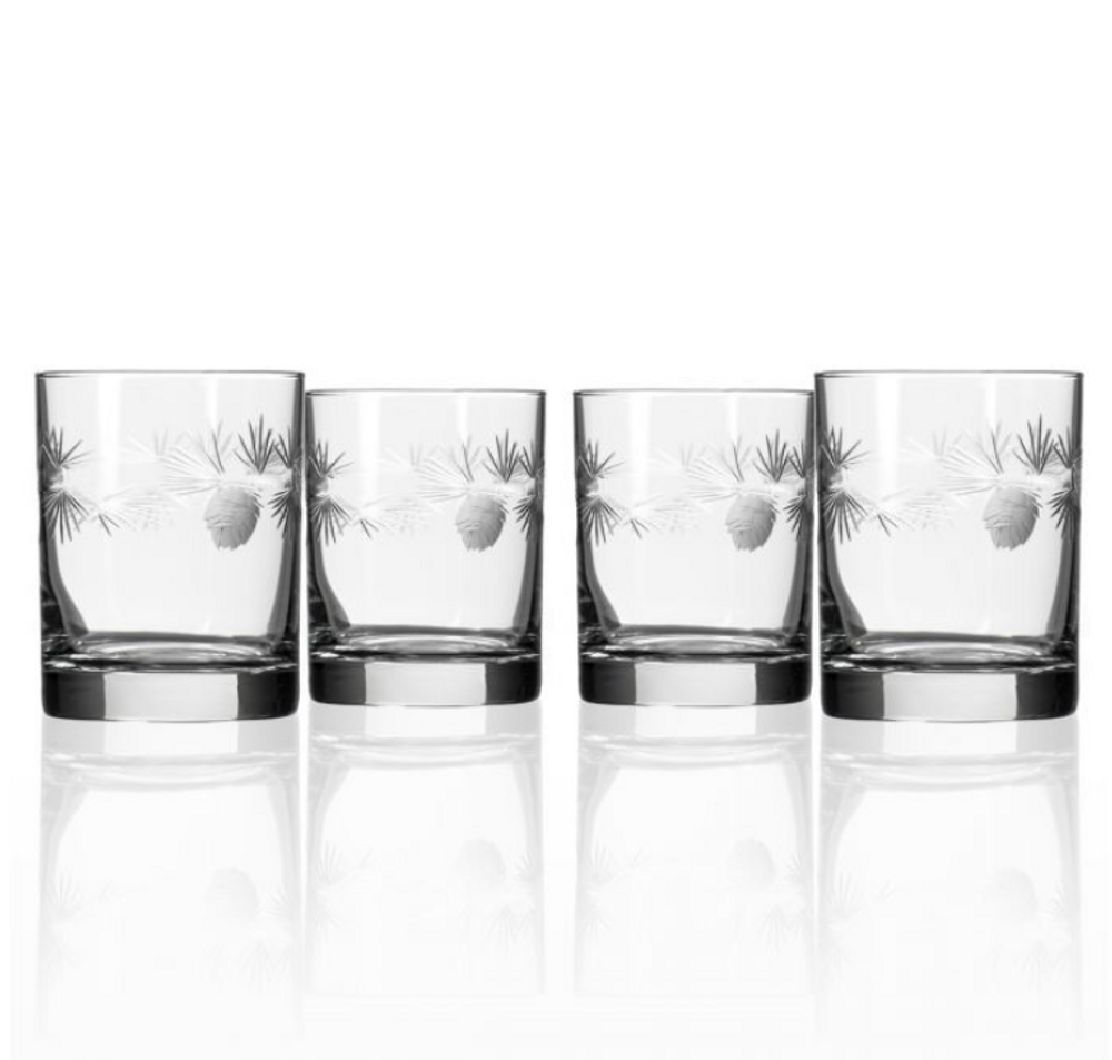 Icy Pine Double Old Fashioned Glass Set of 4 | Rolf Glass | 207001
