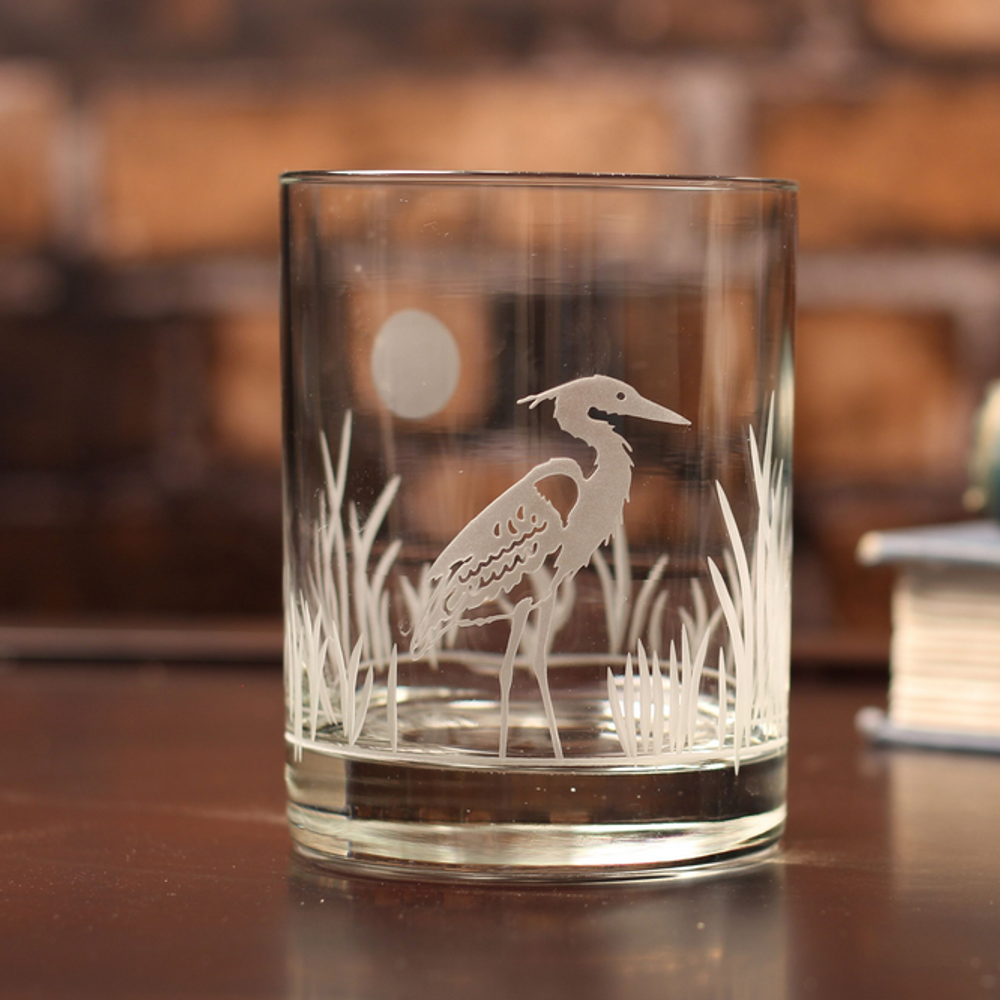 Heron Double Old Fashion Drink Glass Set of 4   Rolf Glass   219004-2