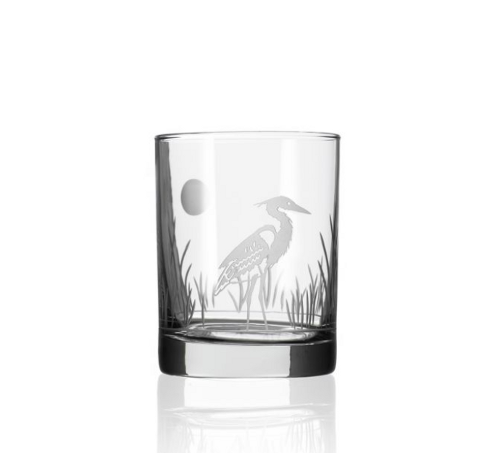 Heron Double Old Fashion Drink Glass Set of 4   Rolf Glass   219004