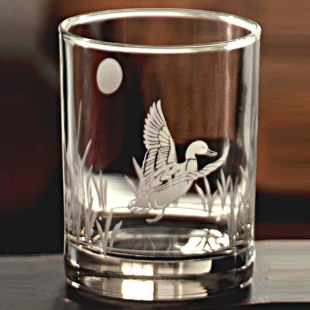 Duck Double Old Fashion Drink Glass Set of 4   Rolf Glass   ROL220000 -2