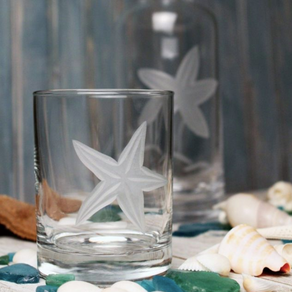 Starfish Double Old Fashioned Glass Set of 4 | Rolf Glass | 400006