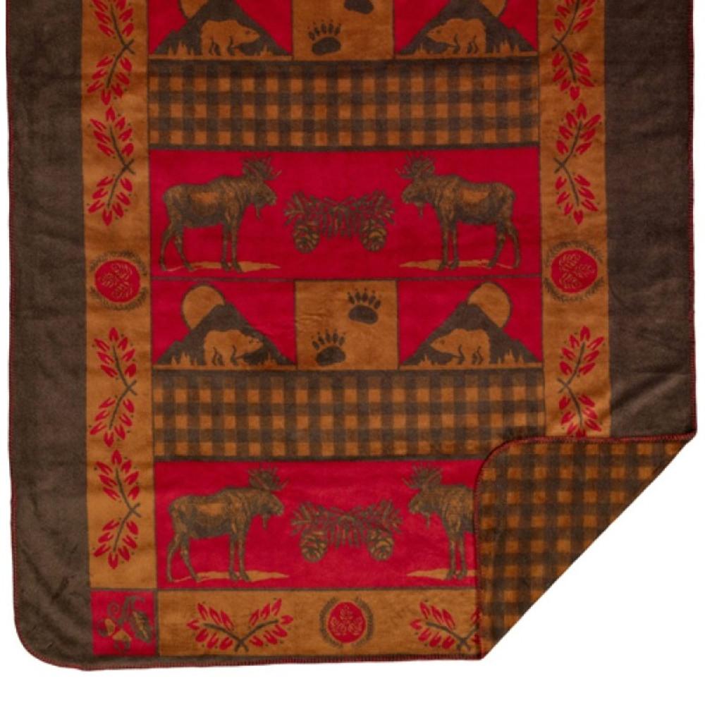 Moose Bear Throw Blanket | Denali | DHC16125972 -2