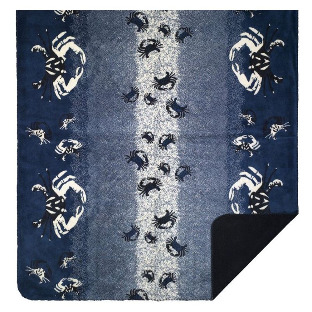 Atlantic Blue Sand Crabs Throw Blanket | Denali | DHC16147472