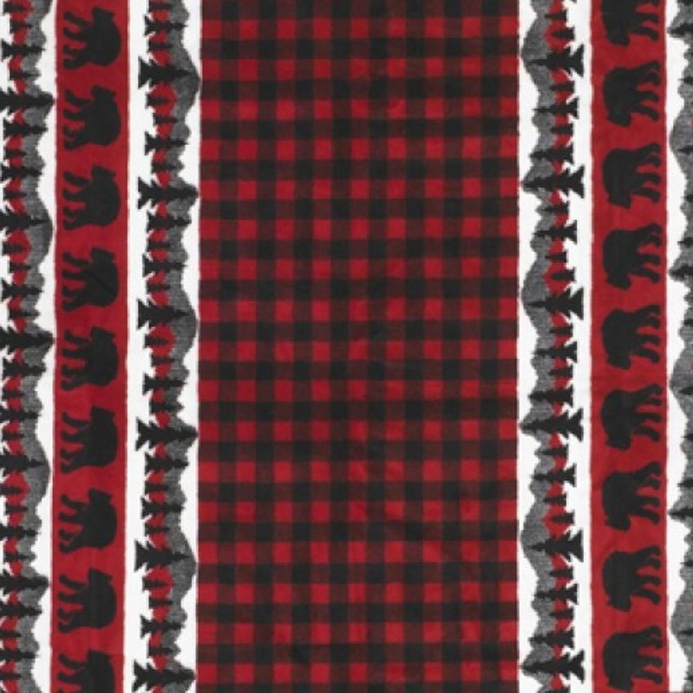 Bear Plaid Border Microplush Throw | Denali | DHC16162072 -2