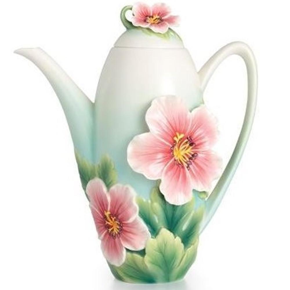 Geranium Garden Porcelain Teapot | FZ02371 | Franz Porcelain Collection -2