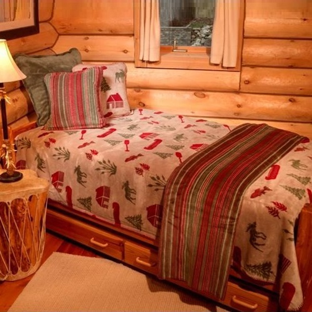 Moose Camp Twin Bedspread | Denali | DHC51206889