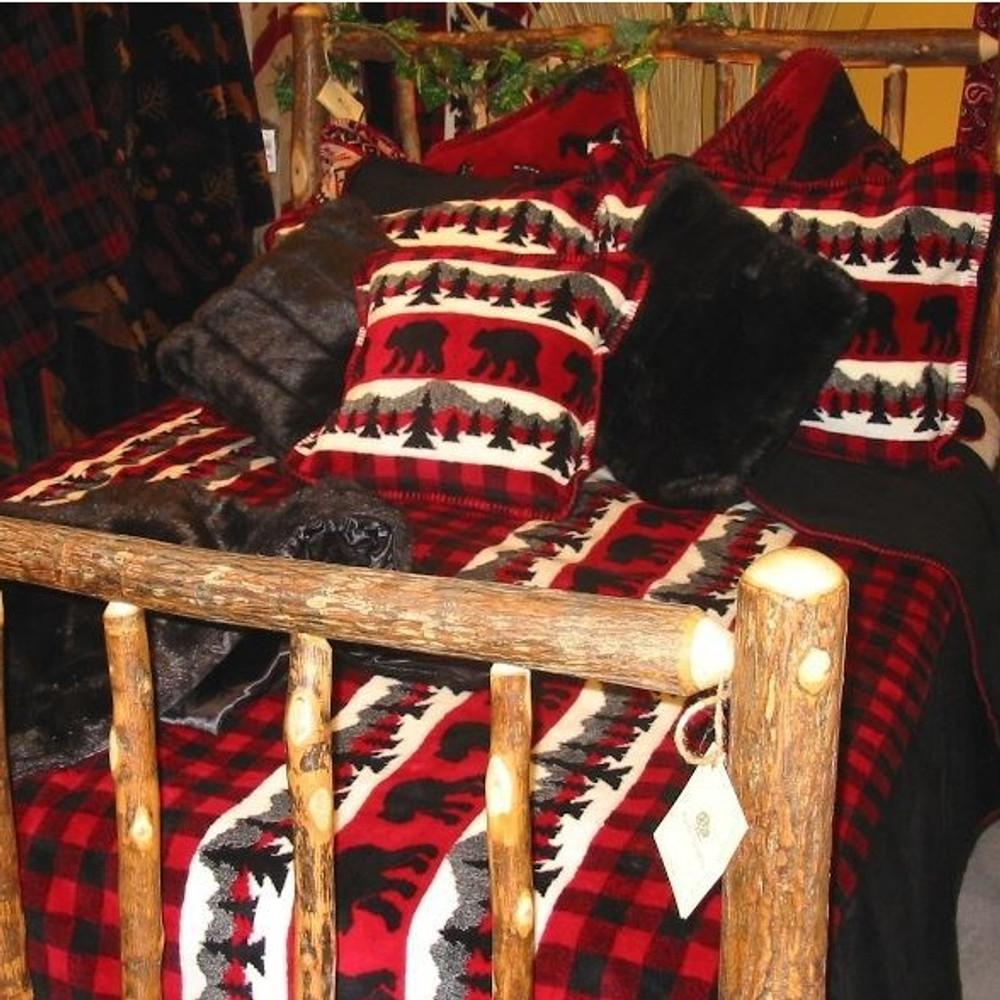 Bear Plaid Twin Bedspread | Denali | DHC51262089 -2