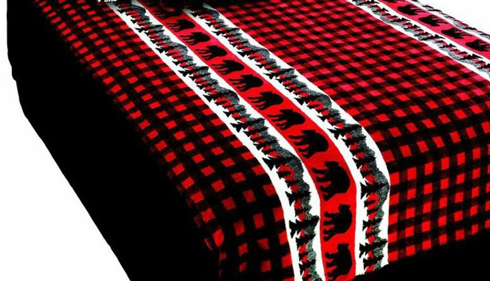 Bear Plaid Twin Bedspread | Denali | DHC51262089 -3