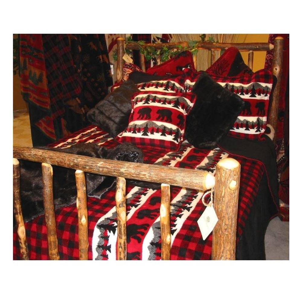 Bear Plaid Twin Bedspread | Denali | DHC51262089