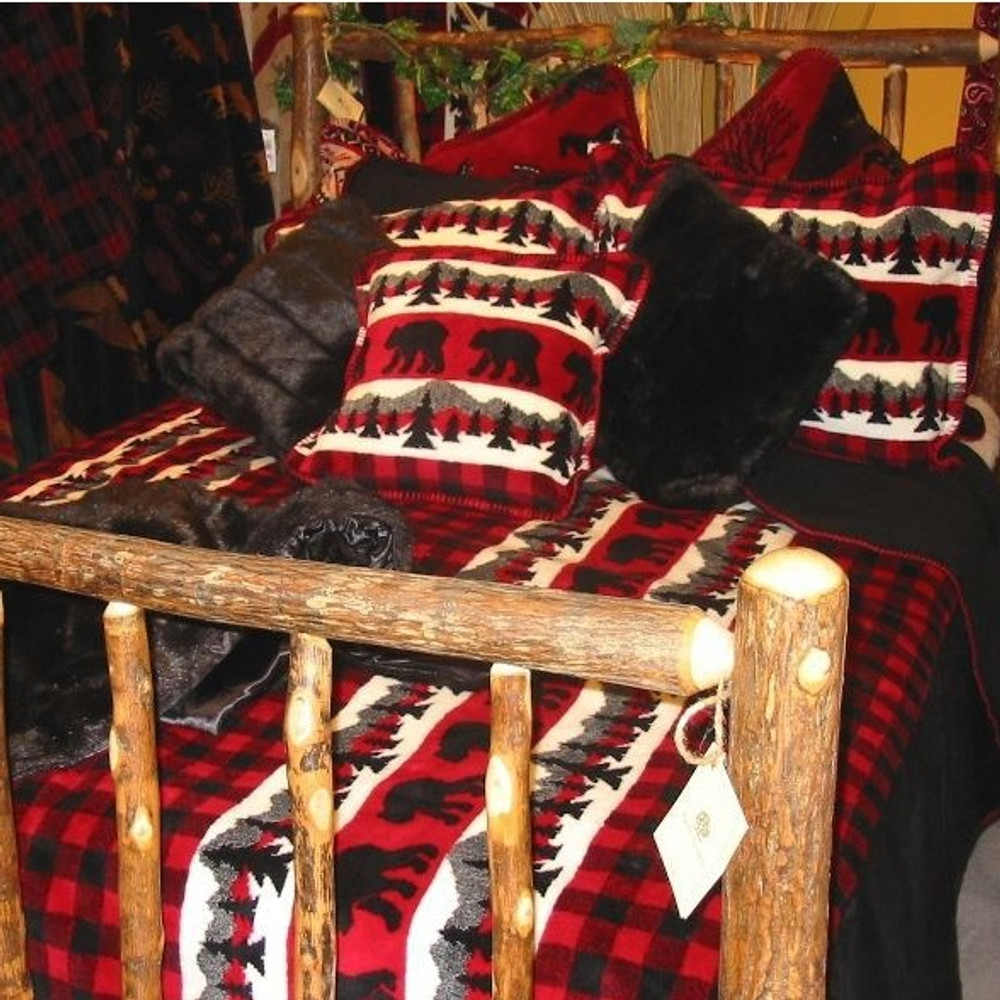 Bear Plaid King Bedspread   Denali   DHC51262089-King -2