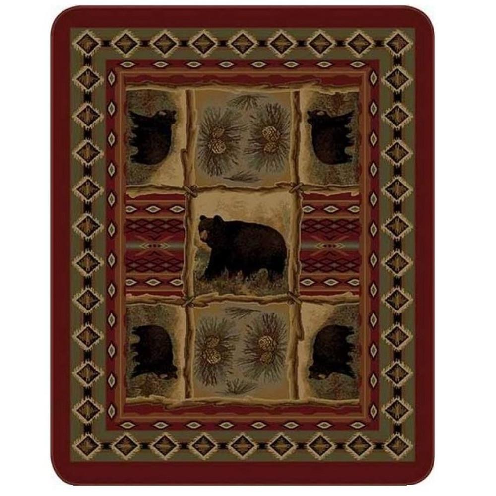 Bear Blanket Rustic Bear Patchwork   DUKDB5351-2
