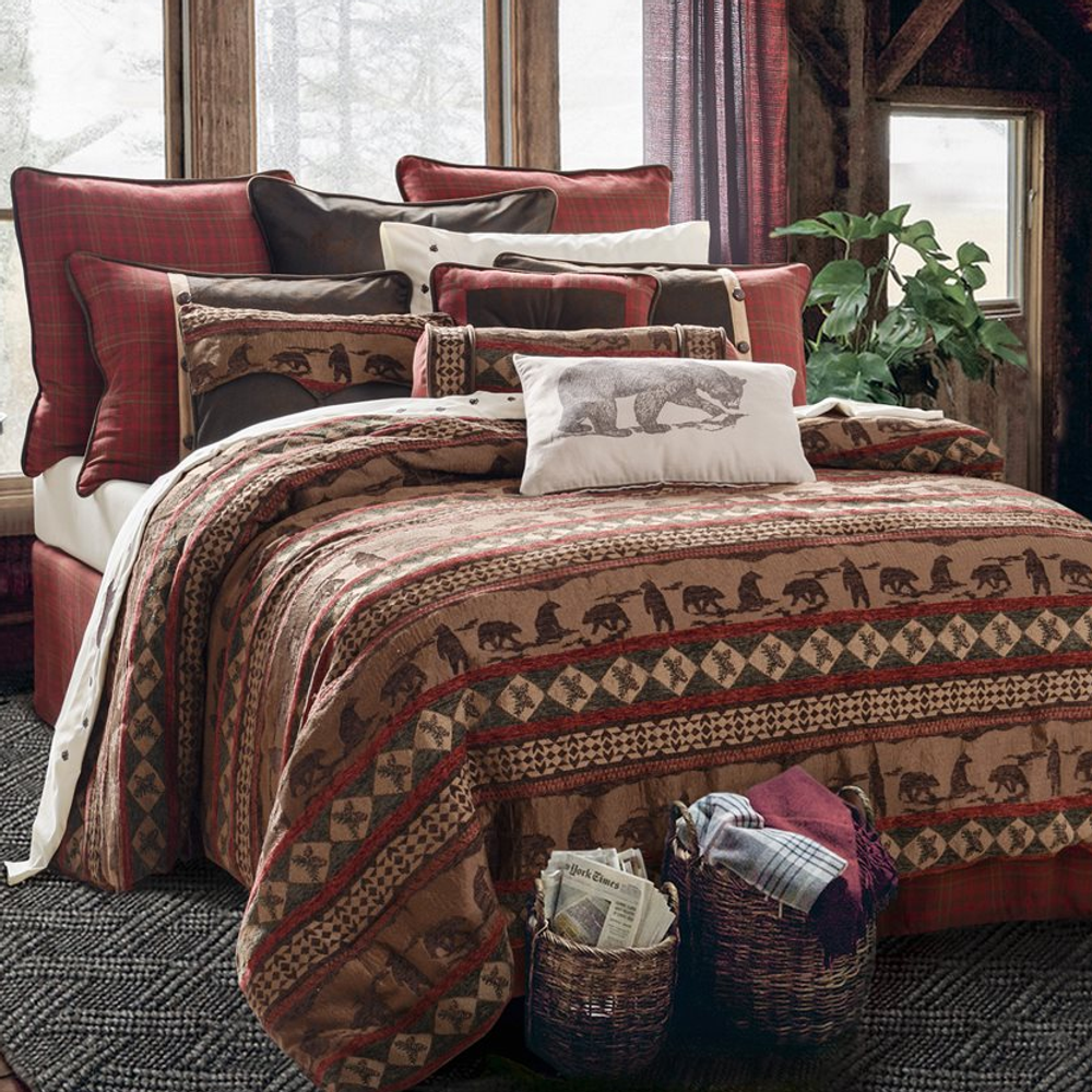 Cascade Lodge Bear Twin Bedding Set   HiEnd Accents   HMLG1845-twin