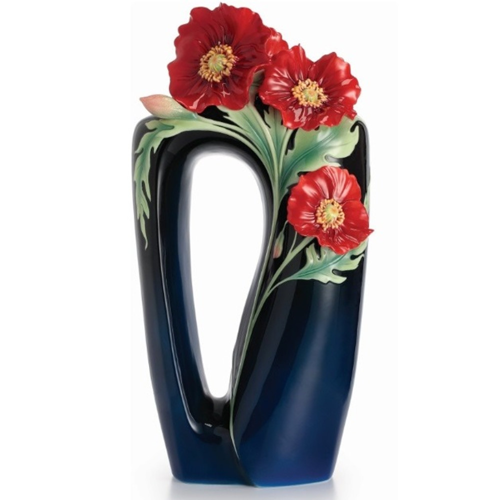 Serenity Poppy Large Porcelain Vase | FZ02425 | Franz Porcelain Collection