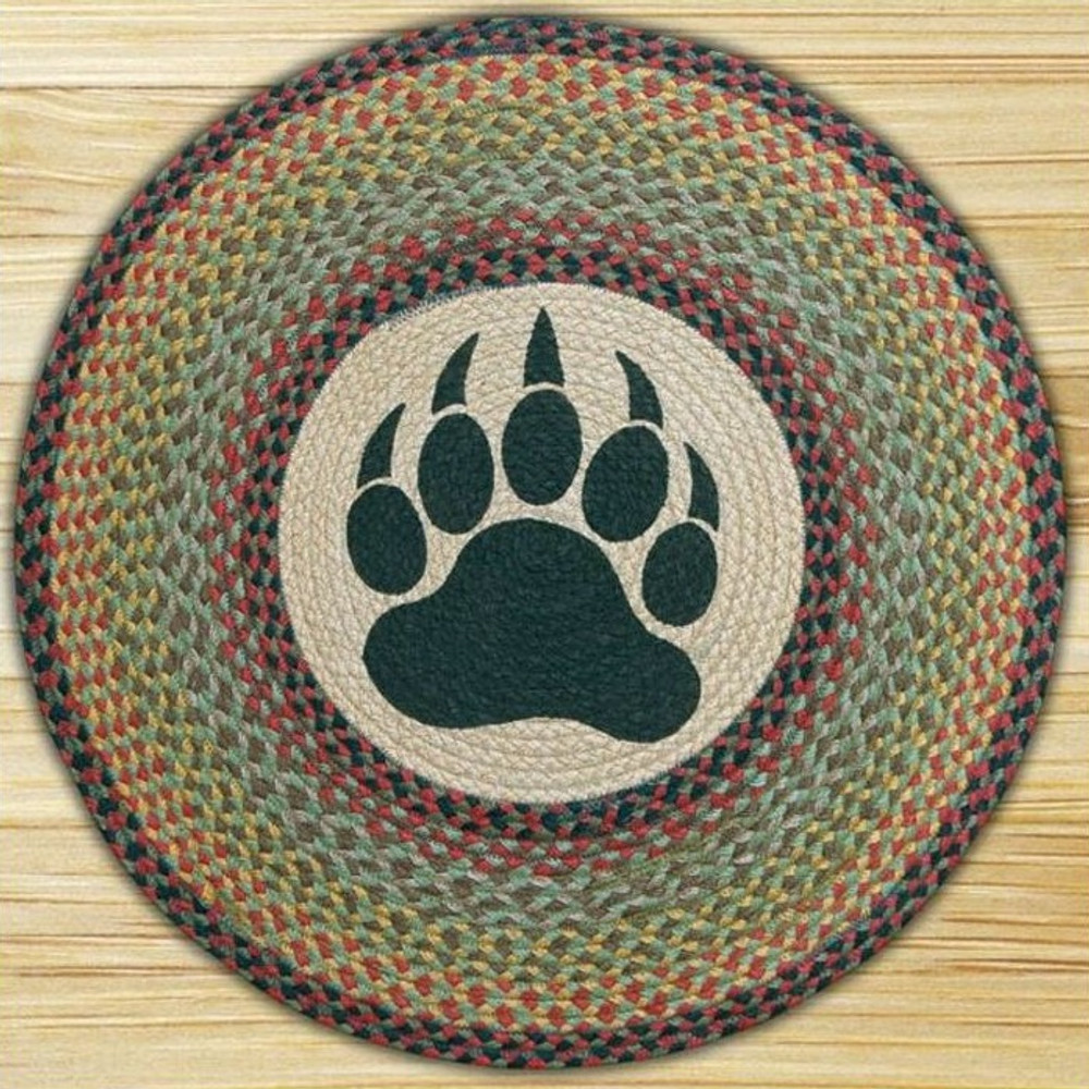 Bear Paw Round Braided Rug | Capitol Earth Rugs | CERRP-081