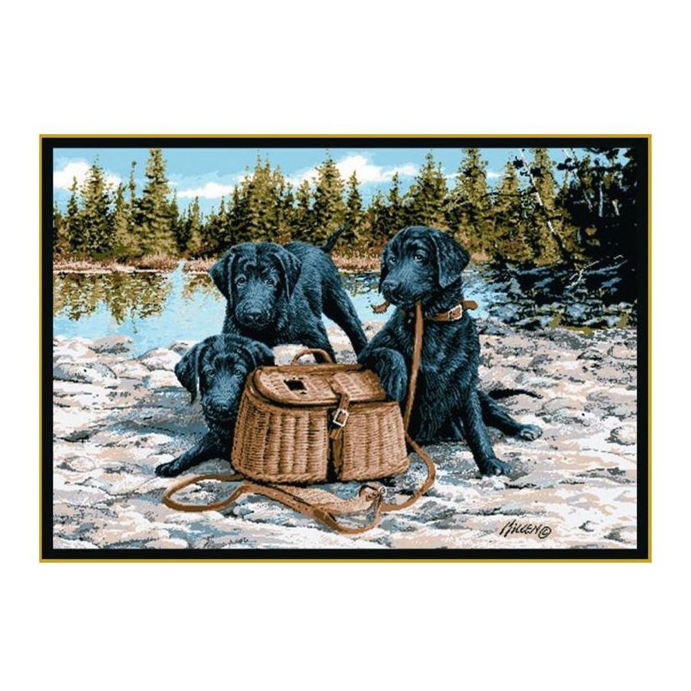 Gone Fishing Area Rug | Custom Printed Rugs | CPR29