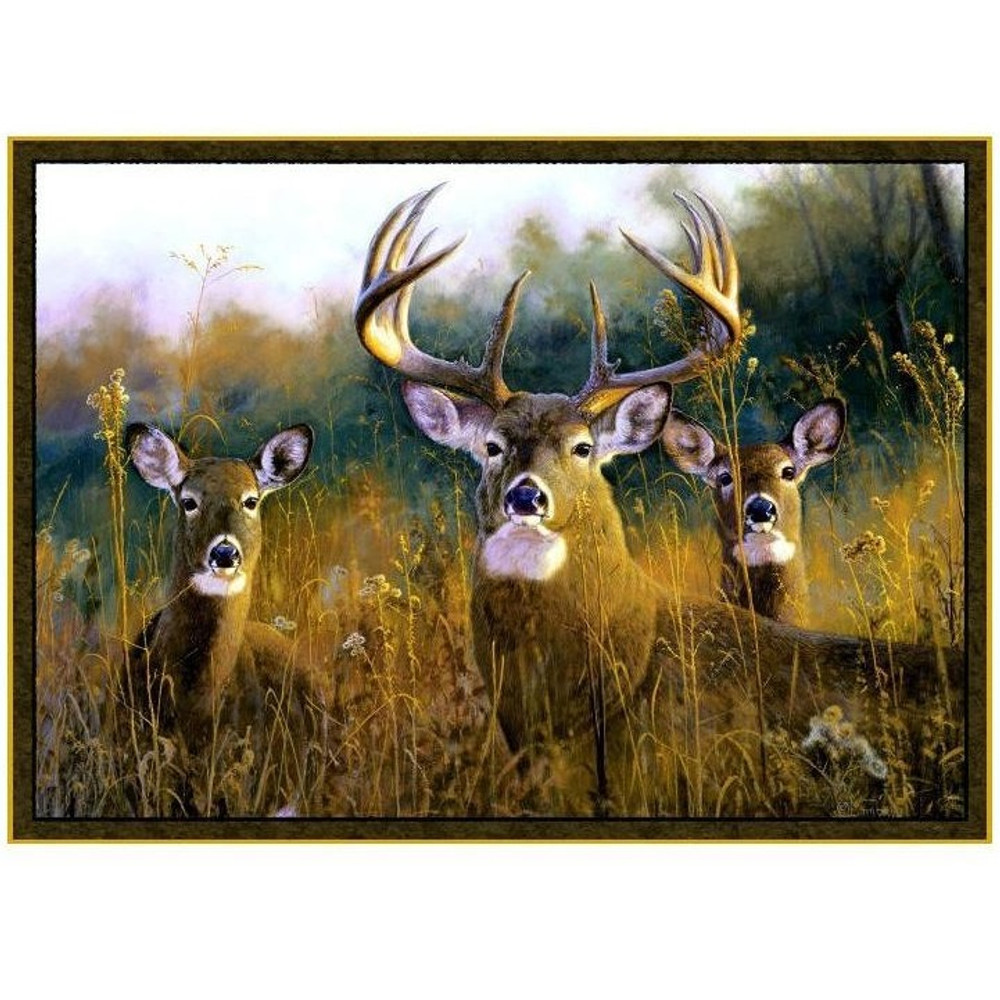Deer Area Rug Buck Stops Here | Custom Printed Rugs | CPR37