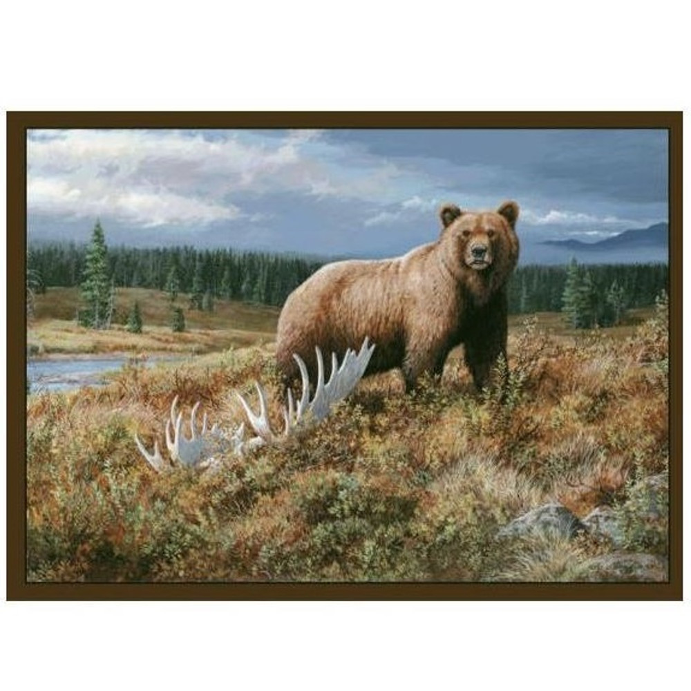 Grizzly Bear Area Rug | Custom Printed Rugs | CPR52