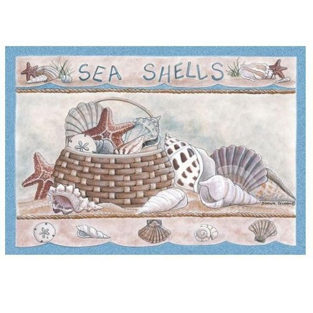 Seashells Area Rug | Custom Printed Rugs | CPRseashells