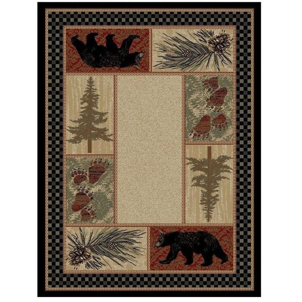 Bear Area Rug Cades Cove - American Destination | Mayberry Rug | MBRAD3793