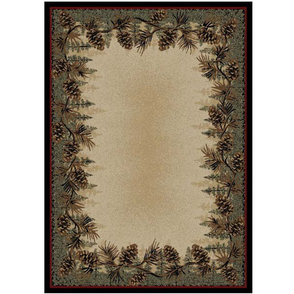 Pinecone Area Rug Mt Le Conte - American Destination | Mayberry Rug | MBRAD3823