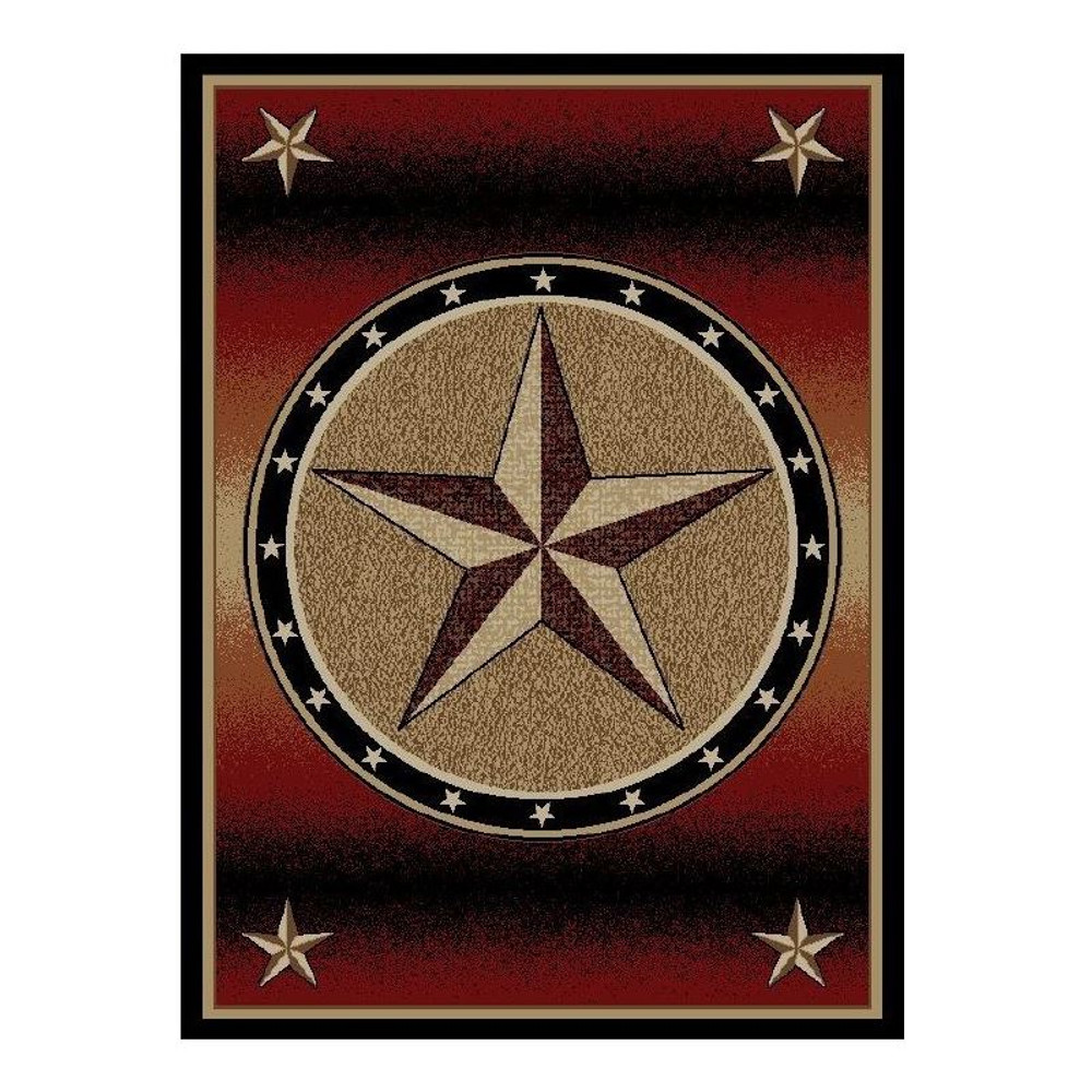 Star Area Rug Amarillo Rust - American Destination | Mayberry Rug | MBRAD3833