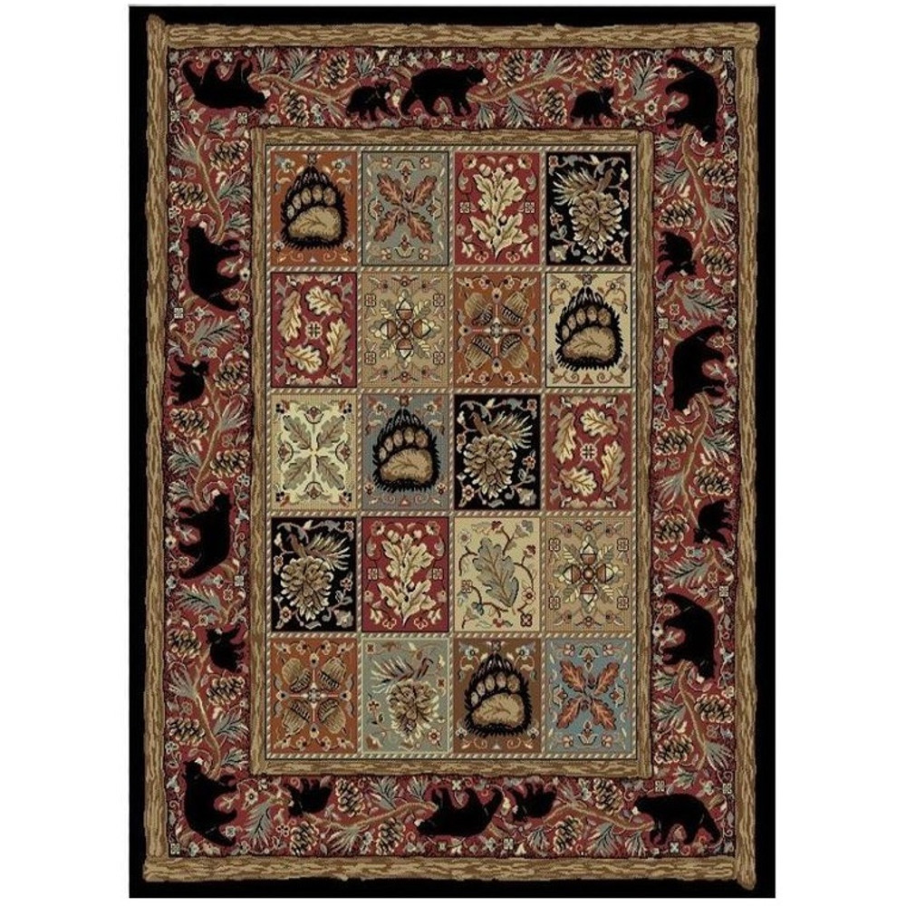 Bear Area Rug Masters Lodge - American Destination | Mayberry Rug | MBRAD3853