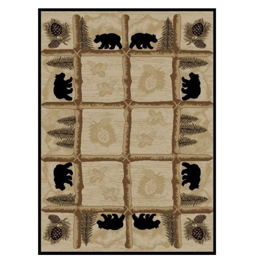 Bear Area Rug Toccoa - Hearthside Collection | Mayberry Rug | MBRHS7472