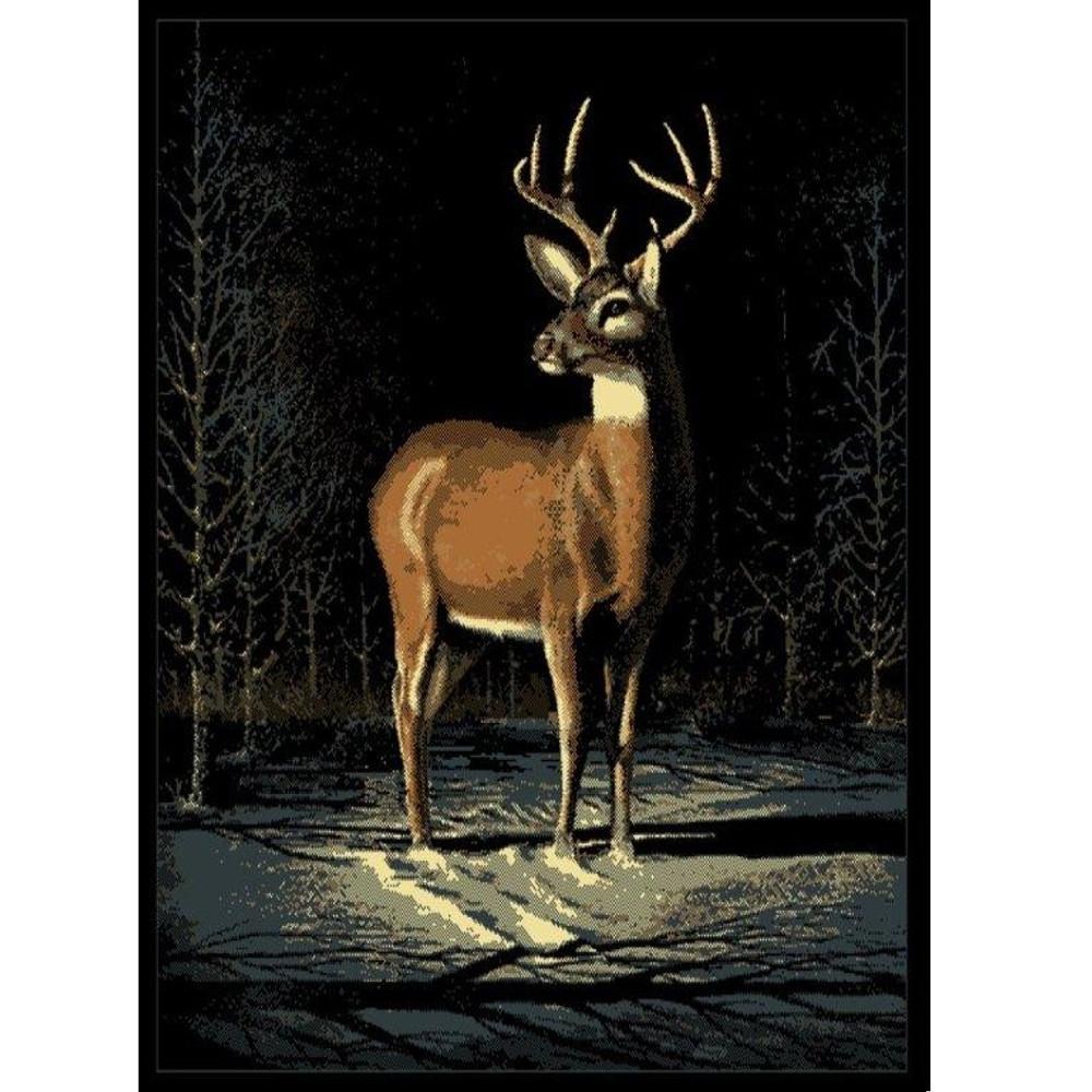 Winter Buck Deer Area Print Rug   United Weavers   UW910-03060