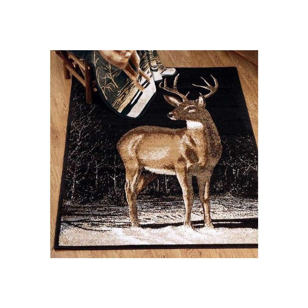 Winter Buck Deer Area Print Rug   United Weavers   UW910-03060 -2