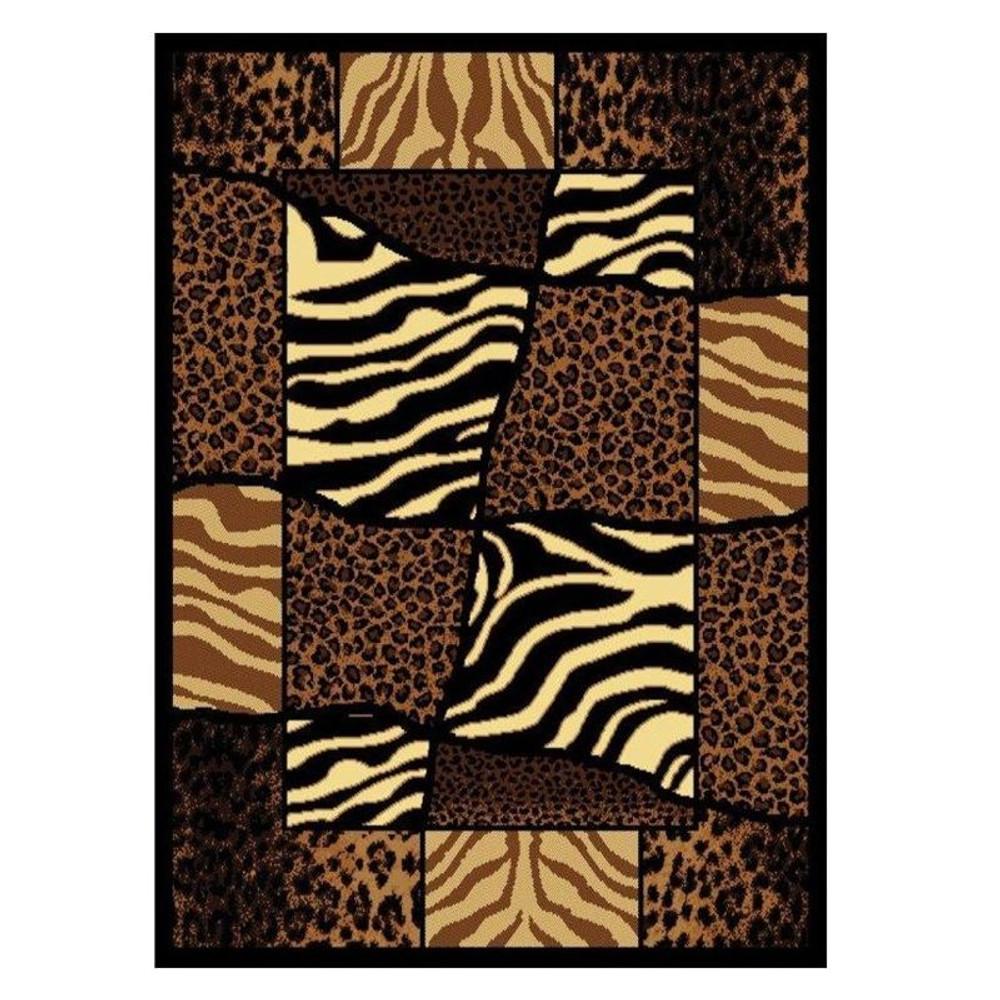 Zebra Leopard Area Rug African Montage   United Weavers   UW910-04450