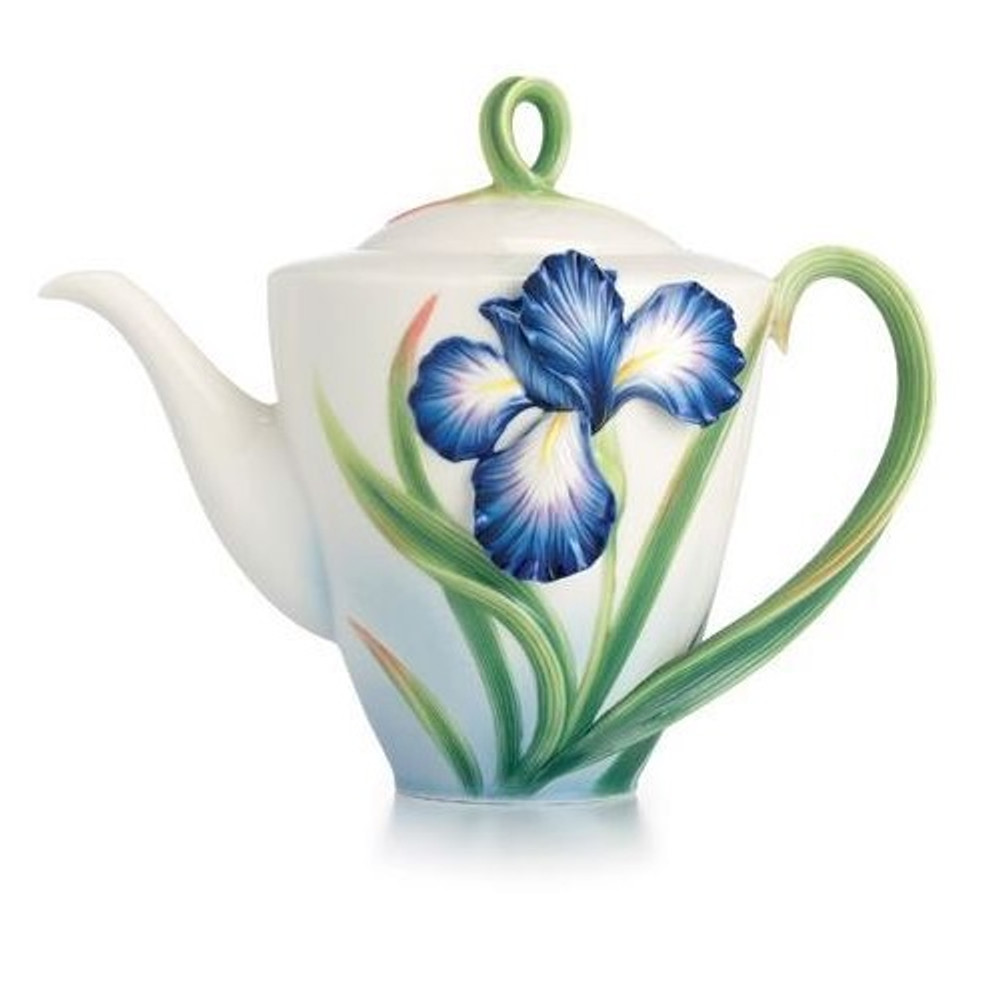 Eloquent Iris Porcelain Teapot | FZ02479 | Franz Porcelain Collection