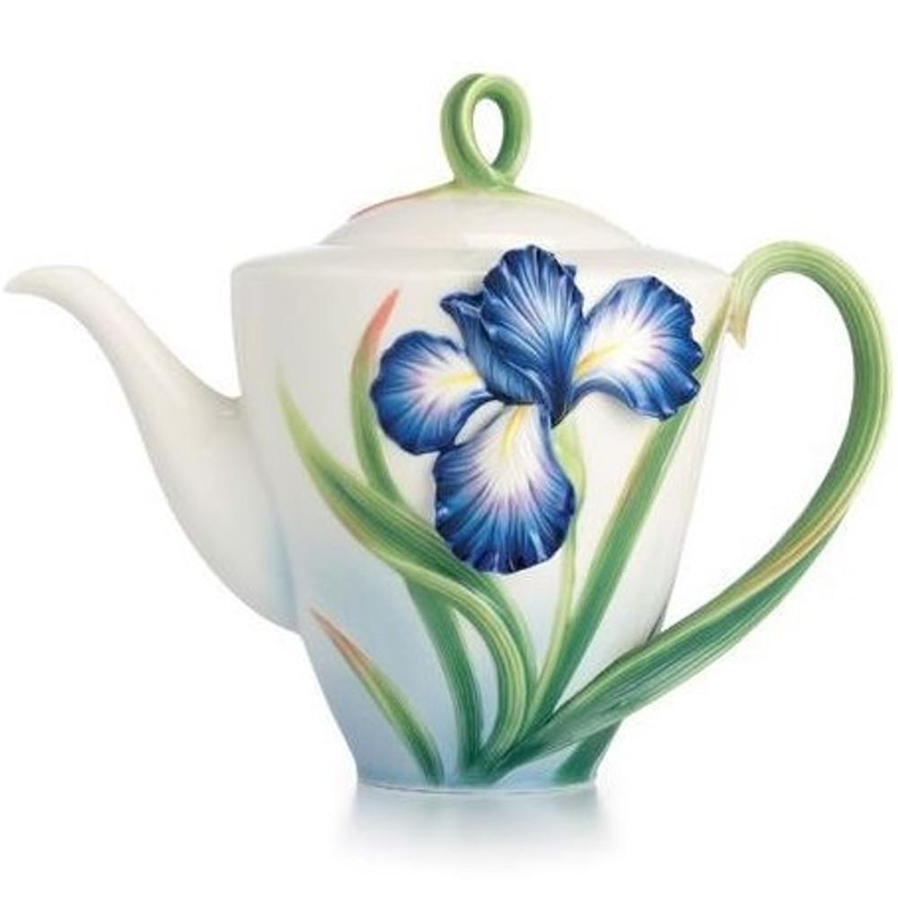 Eloquent Iris Porcelain Teapot | FZ02479 | Franz Porcelain Collection -2